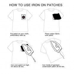 How to use iron on patches?