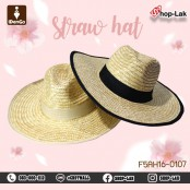 Panama hat, bamboo frame, wide brim, beautiful hat suitable for all seasons. Light and comfortable to wear, stylish model F5Ah16-0107.