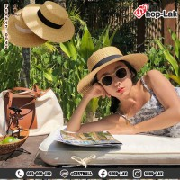 Straw hat, CupCake hat, 10 cm brim. Beautiful shape made from natural materials. No.F5Ah17-0042