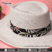 Cake Top Hat, Frame Hat, Natural Straw Hat, Wide Brim, Border Ribbon Beautiful colors, comfortable to wear, model. F5Ah17-0052