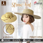 Cake-style hat, straw hat, bamboo frame, wide brim, with chin strap, beautiful shape, good work, comfortable to wear, model.F5Ah17-0054