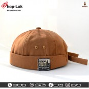Miki Hat Miki Hat, a hemp hat with adjustable straps, two-sided belt, adjustable straps, suitable for large heads Round hat, without brim, watermelon hat, teenagers hat, solid color No.
