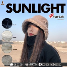 Bucket hat, 4-color soft mink hat, model F5Ah32-0227.
