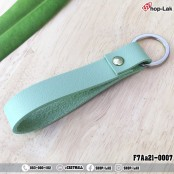 Leather key ring with loop silver size 9x1.5 cm model F7Aa21-0004