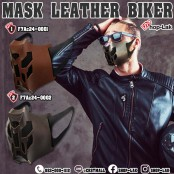 Leather Mask, Mouth Cover, Fancy Heavy Punk Fashion Nose Mask, Dustproof and Dustproof. No.F7Ac24-0001