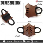 Leather Mask, Mouth Cover, Fancy Heavy Punk Fashion, Dustproof, Knight Pattern No.F7Ac24-0003