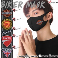 Black nose mask, sponges embroidered in flat motocycle. Washable, dustproof, disease resistant. No. F7Ac25-0184
