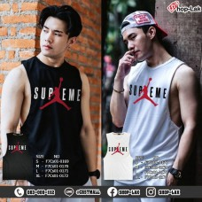 Men's fashion tank top, COTTON rolled fabric, Jordan Supreme pattern on chest, soft and comfortable, available in 2 colors, 4 sizes, No.F7Cs01-0169