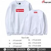 Long-sleeved shirt, soft fabric, sweater, fashion shirt, Supreme pattern screen (F7Cs01-0189)
