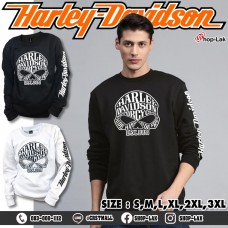 Sweaters, long-sleeved shirt, round neck, ski lint, skull pattern, HARLEY, 2 colors, model F7Cs01-0207