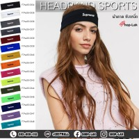 Sweat-resistant headband, sweat-resistant headband, plastel color, available in 15 colors, Flex Supreme pattern, model F7Aa35-0334.
