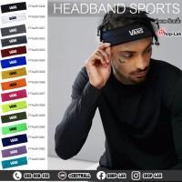 Sweat-resistant headband, sweat-proof headband, plastel color, available in 15 colors, Flex, pattern, VANs No.F7Aa35-0349.