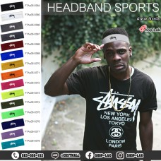 Sweat-resistant headband, sweat-proof headband, plastel color, available in 15 colors, Flex pattern STUSSY No.F7Aa35-0364.