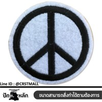 PEACE logo embroidery, rolling board, PEACE pattern, rolled sheet, PEACE pattern, rolled shirt, peace shirt, product ready, no. F3Aa51-0003