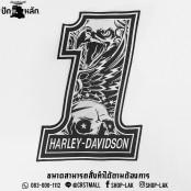 Logo, No.1 Embroidery, Harley Davidson, Arm Rucksack, No.1 Harley Davidson Pattern, Eagle Pattern Shirt No.1, Harley Davidson No. F3Aa51-0001