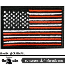 Embroidery work on the bag attached to the shirt, attached to the flag pattern, the flag of the arm, attached to the flag pattern. Leather label attached to the national flag pattern No. F3Aa51-0008