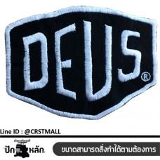 Arm-mounted shirt DEUS Ironing label with DEUS pattern DEUS badge Rolled shirt, DEUS No. F3Aa51-0006