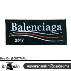 Arm-mounted Balenciaga striped shirt Balenciaga badge Leather label attached to the shirt pattern Balenciaga logo Balenciaga embroidery work No. F3Aa51-0006