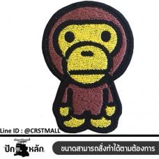 Arm Bape Ape patterned shirt, Bape Ape patterned shirt, Bape Ape logo embroidery, Bape Ape patterned shirt. Body decoration products No.F3Aa51-0005