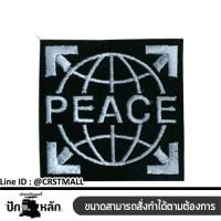 PEACE striped shirt, PEACE label, PEACE pattern, PEACE embroidery pattern