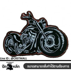 Embroidery arm,  CHOPPER BI, BADGE, CHOPPER, EMBROIDERY ARM, EMBROIDERY, MOTORBIKE, NO. F3AA51-0009