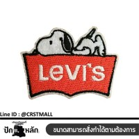 logo, embellishment, material, sewing, arm, stick, shirt, pattern, levis, snoopy, badge, pattern, levis NO. F3AA51-0005