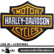 Arm fitted with a Harley Davidson pattern, Harley Davidson badge, leather label, Harley Davidson No. F3Aa51-0010