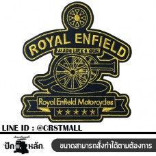 Logo, material, embroidery, royal enfield pattern, iron-on badge, royal enfield shirt, rolled shirt, royal shirt Arm rolled on a striped shirt Embroidered arm shirt with royal enfield pattern No. F3Aa51-0017