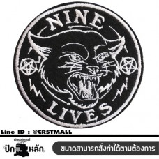 NINE LIFE, logo, embroidery, Arm rolled on a shirt, hat, bag, pattern, black,  pattern, black, NINE LIFE, body stick, machine, black, NINE LIFE, sticker, stick, body, black, NINE LIFE logo Embroidery work, NINE LIFE