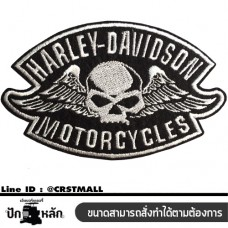 Arm rolled on the shirt HARLEY DAVIDSON skull pattern Ironing shirt, HARLEY DAVIDSON shirt, skull pattern Arm rolled shirt with HARLEY DAVIDSON (F3Aa51-0009)