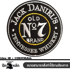 ARM ROLLED WITH JACK DANIEL PATTERN SHIRT , Logo Embroider  (F3Aa51-0007)