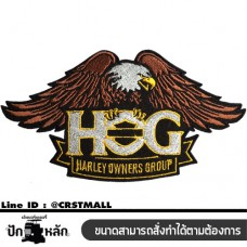 Logo Embroideries  ironing , HARLEY DAVIDSON HOG, Eagle patterned shirt, HARLEY DAVIDSON HOG, Eagle patterned shirt (F3Aa51-0016)