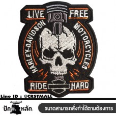 HARLEY DAVIDSON LIVE FREE patterned shirt, rolled shirt, hale shirt Arm rolled on a Halley shirt (F3AA51-0010)