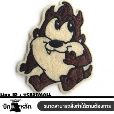 Ironing clothes Embroidered Cartoon Tasmanian Devil Ironing Board Embroidered cartoon image of Tasmanian Devil. Arm attached to striped shirt. Cartoon characters Tasmanian Devil No. F3Aa51-0008
