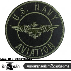 Embroidery arm, Armed Clothes Stick U.S.NAVY AVIATION Embroidered Cloth U.S.NAVY AVIATION Embroidered U.S.NAVY AVIATION NO. F3AA51-0007