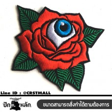 Arm rolled on clothes, embroidered eyeballs, rose, old school, rolled sheets, embroidered eyeballs, rose, old school, eyeball embroidery, rose old school