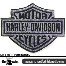 Embroidery HARLEY logo grey black clothes rolled arms,  in black and gray HARLEY wear rolled shaped Embroidery HARLEY grey black grey black HARLEY t-shirt mounted arm arm wear striped black and gray HARLEY HARLEY rolled samples No.F3Aa51-0010.