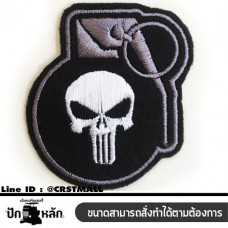 Arm rolled clothes, embroidered punisher, rolled clothes Embroidered figure punisher Punisher patterned arm, striped shirt, punisher, embroidery, punisher, ready to send