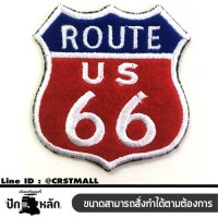 Embroidered ROUTE 66, iron-on embroidered shirt, ROUTE 66 logo, ROUTE 66 embroidery, ROUTE 66 embroidery, ROUTE 66 NO. F3Aa51-0007