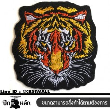 Ironing clothes Embroidered logo on the tiger face Tiger embroidered shirt with embroidered tiger face, embroidered arm, attached to the shirt, TIGER pattern, embroidery, embroidered pattern, TIGER embroidery, tiger pattern No. F3Aa51-0016