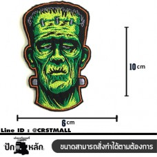 Ironing clothes, Frankenstein embroidery, logo, clothes sticking, embroidery, Frankenstein, ironing, Frankenstein embroidery, Frankenstein shirt, send No. F3Aa51 -0013