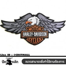 IRON-ON CLOTHES STICK, LOGO EMBROIDERY, HARLEY PATTERN, EAGLE CLOTHES, HARLEY EMBROIDERY, EAGLE, ROLLED SHIRT, EMBROIDERED SHIRT, HARLEY, EAGLE NO. F3AA51-0010