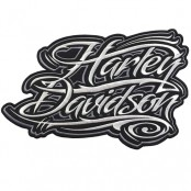 Harley Davidson letters embroidery arm 27x16 cm, fitted with a hat Addicted to fashion products DIY work Embroidery No.F3Aa51-0001