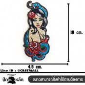 Rose flower arm embroidery Yakuza women 4.5 x 10 cm, fitted with a hat Addicted to fashion products DIY work Embroidery No.F3Aa51-0008