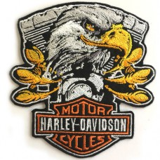 EMBROIDED ARMY T-SHIRT HARLEY DAVIDSON EAGLE STYLE Ironing shirt with eagle pattern Iron on shirt with hale pattern No.F3Aa51-0019