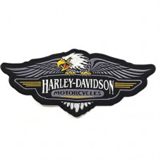 Harley-Davidson Eagles Embroidery Sleeve 11x25 cm. Attached to shirt attached to a hat. Addicted to fashion products DIY work Embroidery No.F3Aa51-0021
