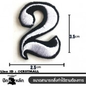 Embroidered number 0-9 patch #embroidered white on black fabric /SIZE 3.5*2.5 high quality detail No.P7Aa52-0174