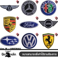 Car logo embroidery arm Arm brand, famous brand, full embroidery work, flannel arm High quality embroidery