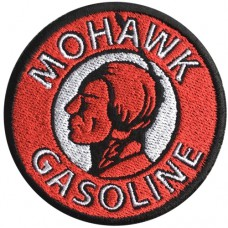 MOHAWK GASOLINE Embroidery Arm Size 7 * 7cm # White, Black, Red, Black Background High quality embroidery No.P7Aa52-0454