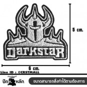 DARKSTAR embroidery arm / Size 6 * 5cm # embroidered black and white with black background High quality embroidery No.P7Aa52-0456